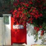 Beware-the-Bougainvillea-36x36-Watercolour-Framed-R3 500-Zanne-Small