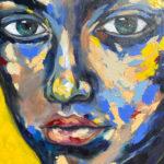 Blue-saffron-600mmx840mm-Acrylic-on-canvas Semona Diener