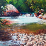 Bubbling-Brook-30x40-Oil-Framed-R2 150-Zanne-Small