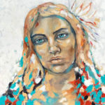 Crane-flower-dreams-800mmx800mm-Acrylic-on-canvas Semona Diener