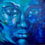 Cyan-thoughts-800mmx800mm-Acrylic-on-canvas Semona Diener