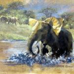 Ellies-Bubble-Bath-45x60-Oil-Framed-R4 250-Zanne-Small