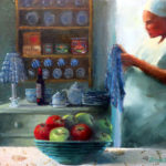 Granny-Smiths-Kitchen-30x41-Oil-Framed-R2 150-Zanne-Small