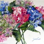 Hydrangea-Huddle-Watercolour-28x38-Framed-R4 000-Zanne-Small