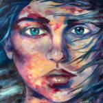 Jupitor-rain-1000mmx1800mm-Acrylic-on-canvas Semona Diener