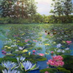 Lily-Pond-at-Vic-Bay-51x41-Oil-Framed-R3 500-Zanne-Small