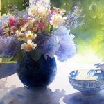Sues-Hydrangeas-Watercolour-56x76-Framed-R7 500-Zanne-Small