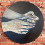 Touch-600mm-diameter-Acrylic-on-canvas Semona Diener